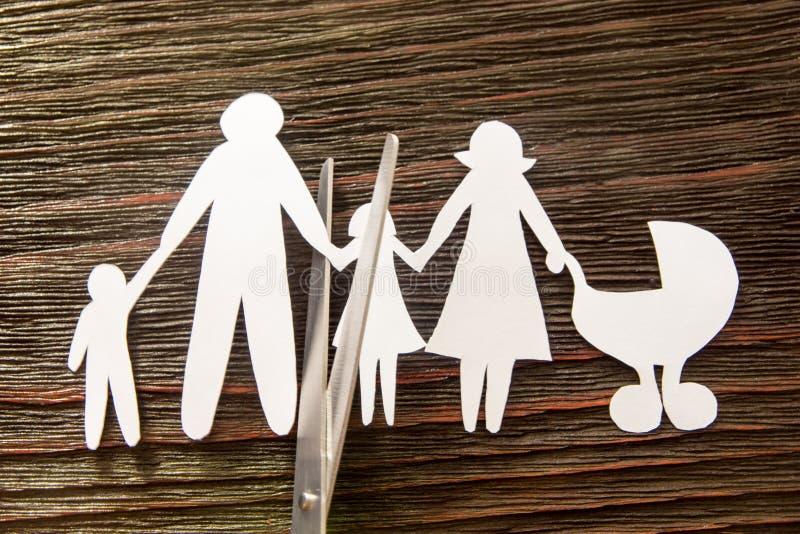 La désintégration de la famille divorce Enfants de section photos stock