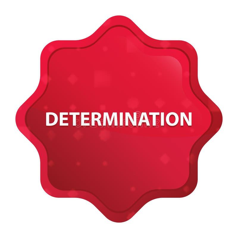 La détermination brumeuse a monté bouton rouge d'autocollant de starburst illustration libre de droits