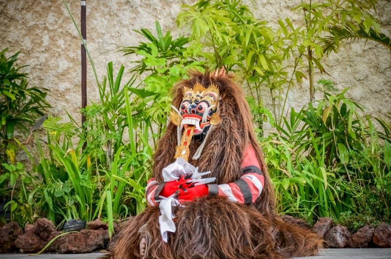 La danse de Barong est d'action ou de représentation de localité une exposition d'art dedans photographie stock libre de droits