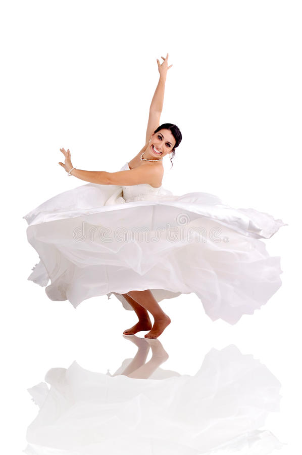 La danse de la jeune mariée images libres de droits