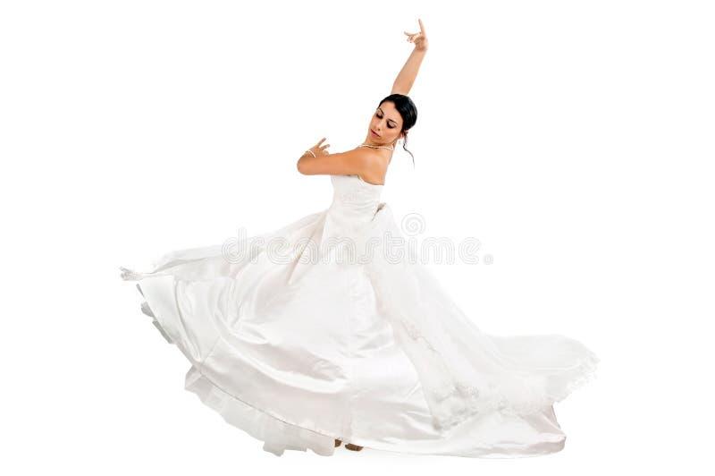 La danse de la jeune mariée photos stock