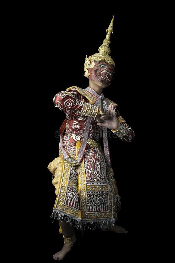 La danse thaïlandaise de masque a appelé Khon images stock
