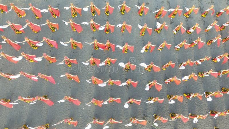 La danza de Sewu Gandrung es danza tradicional de Banyuwangi Java Oriental imagen de archivo libre de regalías
