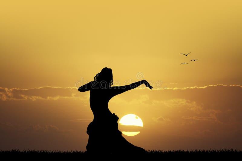 La danza del sol stock de ilustración