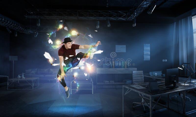 La danza es su mundo Técnicas mixtas fotos de archivo libres de regalías