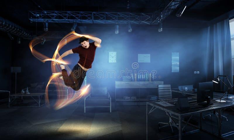 La danza es su mundo Técnicas mixtas fotos de archivo
