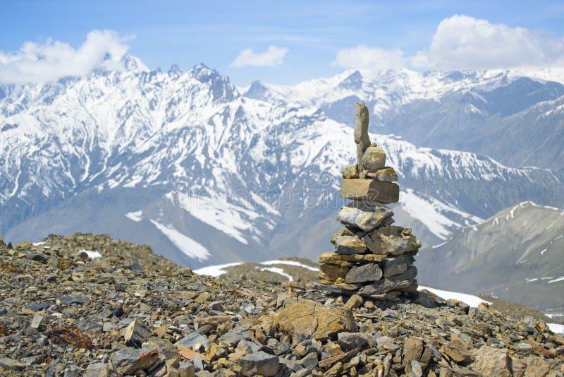 La La de Thorong de passage nepal photographie stock