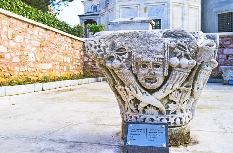 La decoración antigua de la columna fotografía de archivo libre de regalías