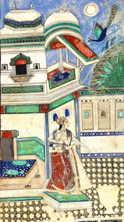 La decoración del palacio de Bundi. fotografía de archivo libre de regalías