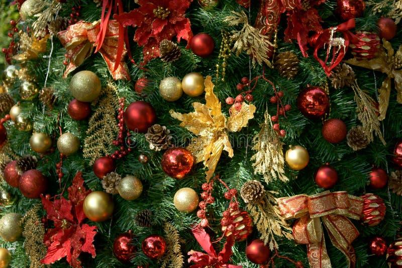 La decorazione dell'albero di Chrismas fotografie stock libere da diritti