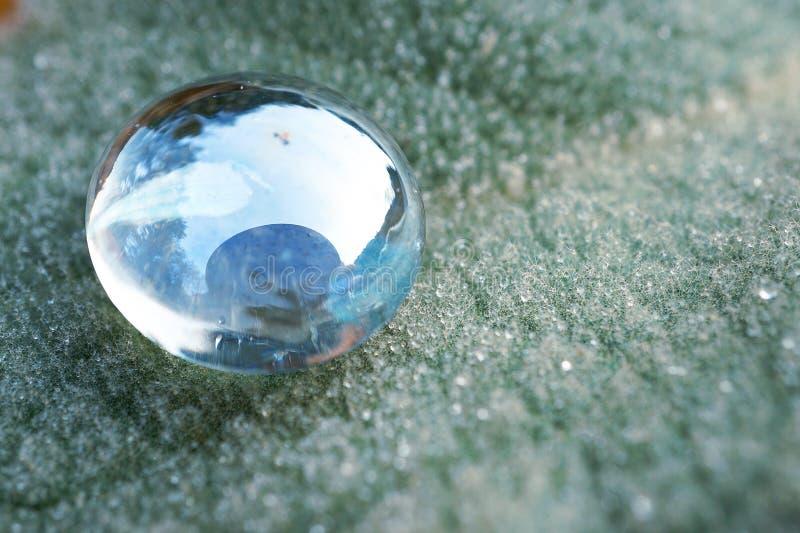 La decorazione di cristallo del gioiello di gocce fotografia stock