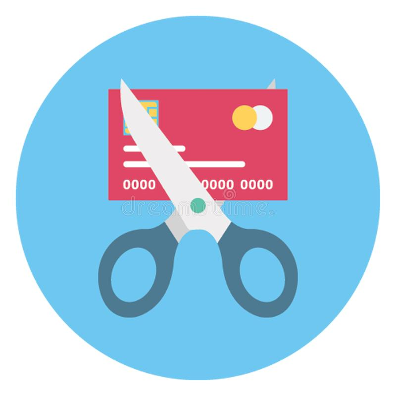 La deducción de la tarjeta de crédito, deducción financiera aisló el icono del vector que puede ser corregido fácilmente libre illustration