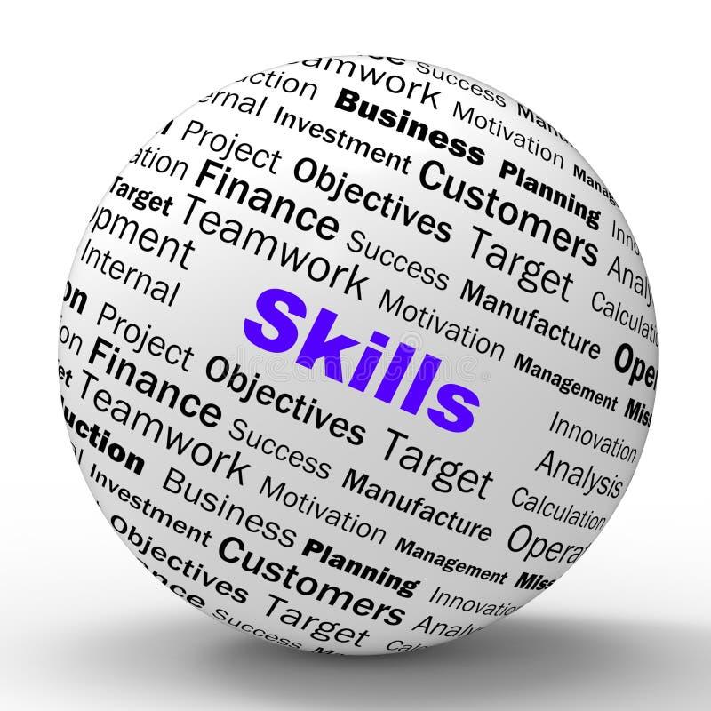 La definición de la esfera de las habilidades significa capacidades especiales stock de ilustración