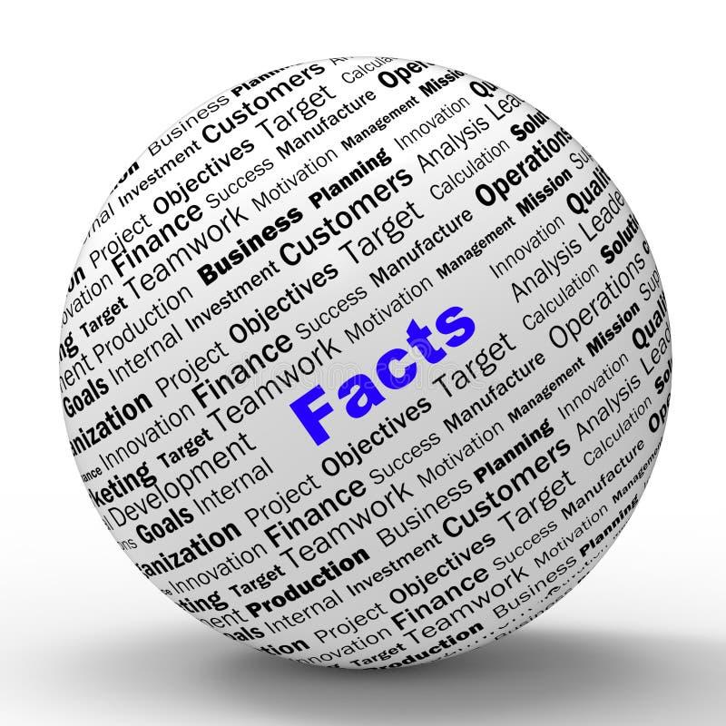 La definición de la esfera de los hechos significa verdad y la sabiduría ilustración del vector