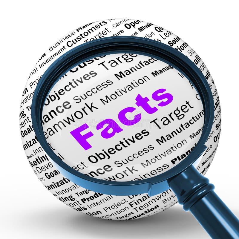 La definición de la lupa de los hechos significa verdad y la sabiduría libre illustration