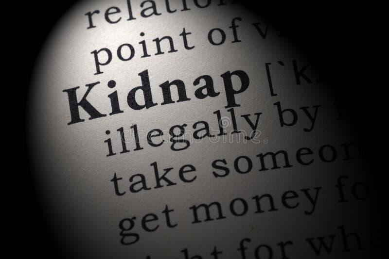 La definizione di rapisce fotografie stock
