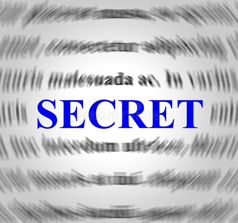 La definizione segreta indica nascosto segreto e celato royalty illustrazione gratis