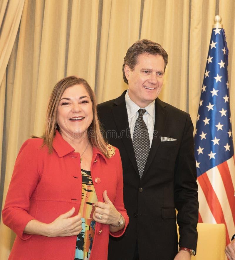 La delegazione congressuale degli Stati Uniti incontra Israel President fotografia stock