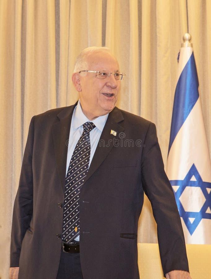 La delegazione congressuale degli Stati Uniti incontra Israel President fotografia stock libera da diritti