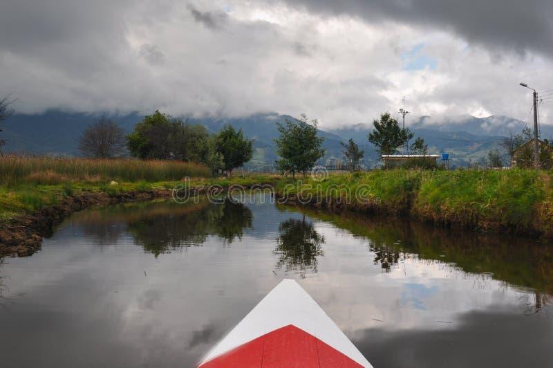 La delicata & variopinta Cocha, Colombia di laguna fotografie stock libere da diritti