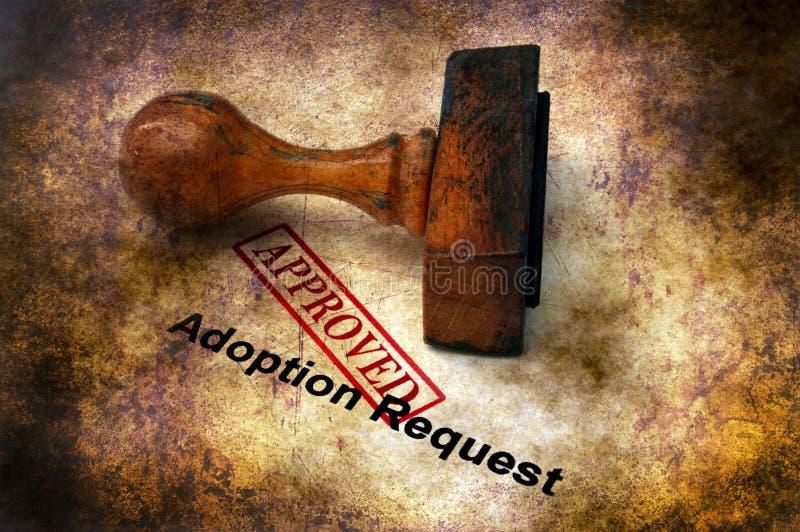 La demande d'adoption a approuvé image libre de droits