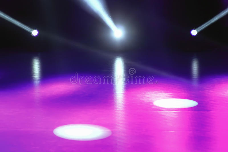 La demostración de la luz del concierto, etapa se enciende, etapa colorida se enciende, s ligero imagen de archivo libre de regalías