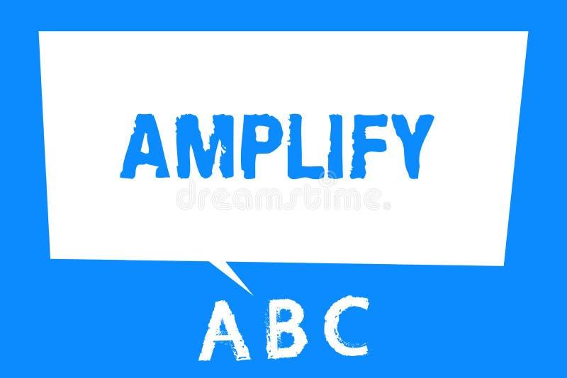 La demostración de la muestra del texto amplifica La foto conceptual hace algo un aumento más ruidoso más grande el volumen usand ilustración del vector