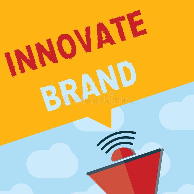 La demostración de la muestra del texto innova marca Foto conceptual significativa innovar productos, servicios y más stock de ilustración