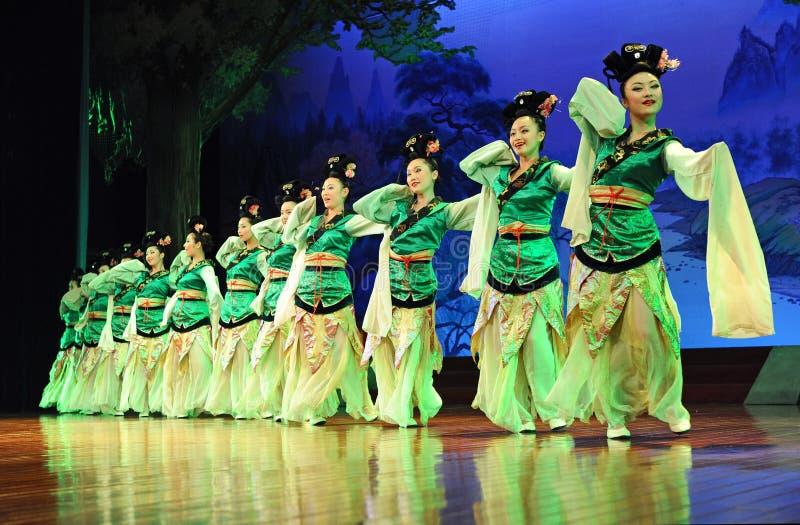 La demostración famosa de la dinastía Tang imagen de archivo