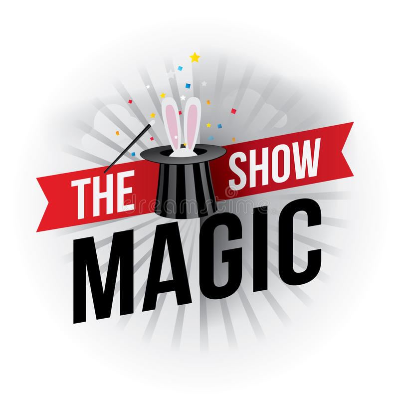 La demostración mágica stock de ilustración