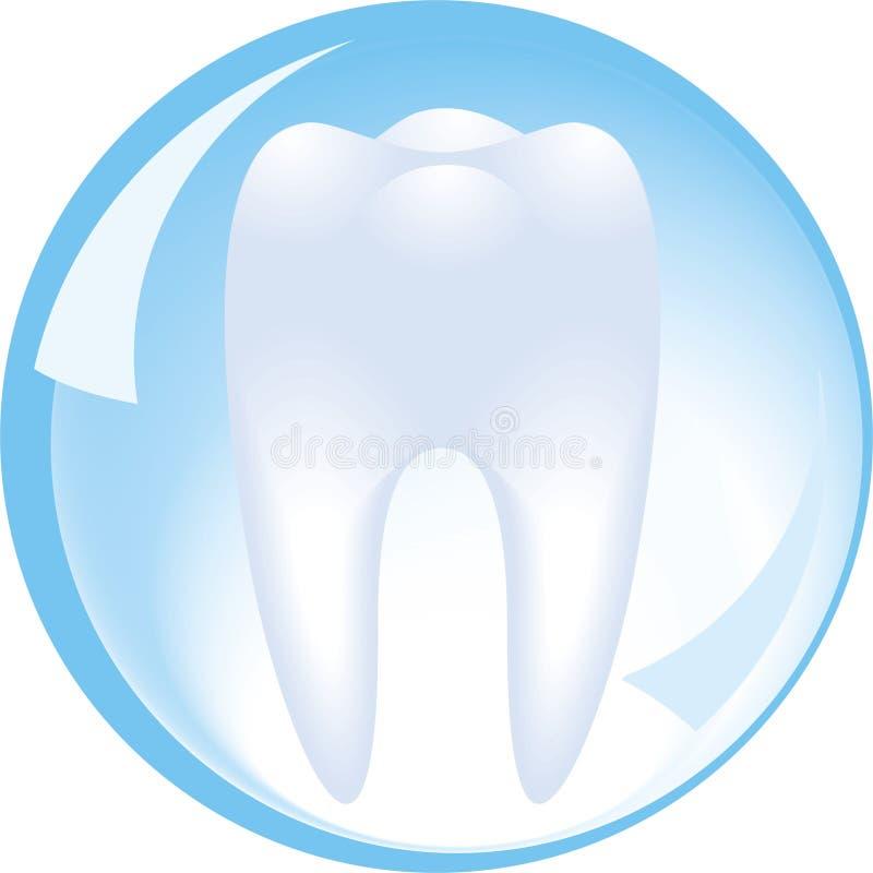 La dent est protégée par une sphère en verre de l'art dentaire illustration libre de droits