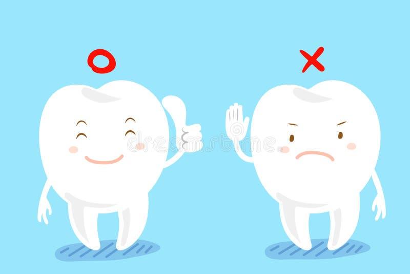 La dent font le geste différent illustration de vecteur