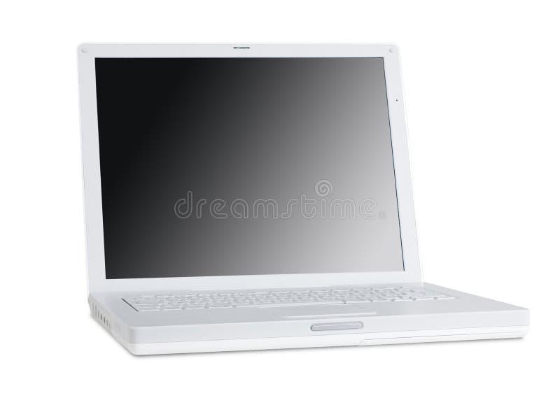 La derecha de la cara de la computadora portátil foto de archivo