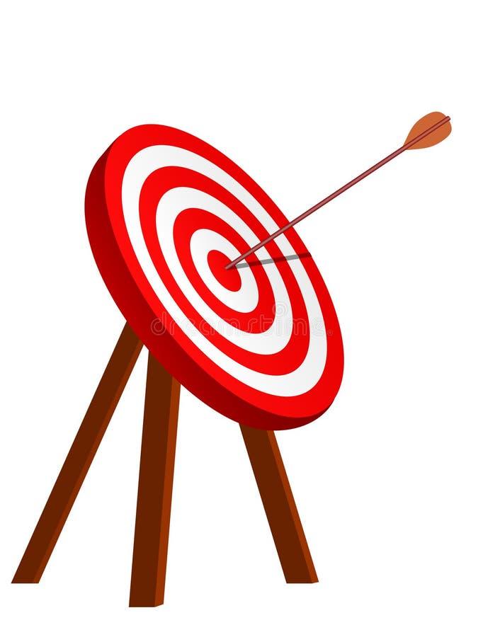 La derecha de la flecha en la blanco stock de ilustración