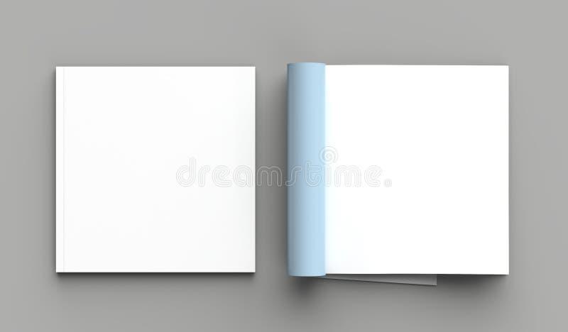 La derisione quadrata della rivista, dell'opuscolo o del catalogo su ha isolato la pagina giusta royalty illustrazione gratis