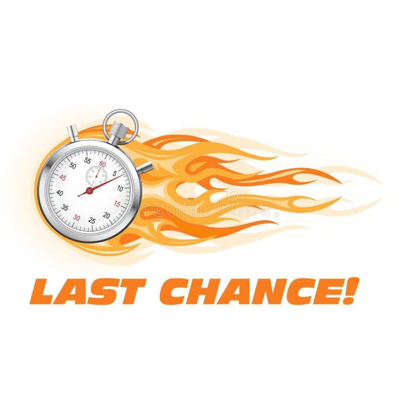 La dernière occasion, dépêchent - l'icône brûlante de chronomètre, offre chaude illustration libre de droits