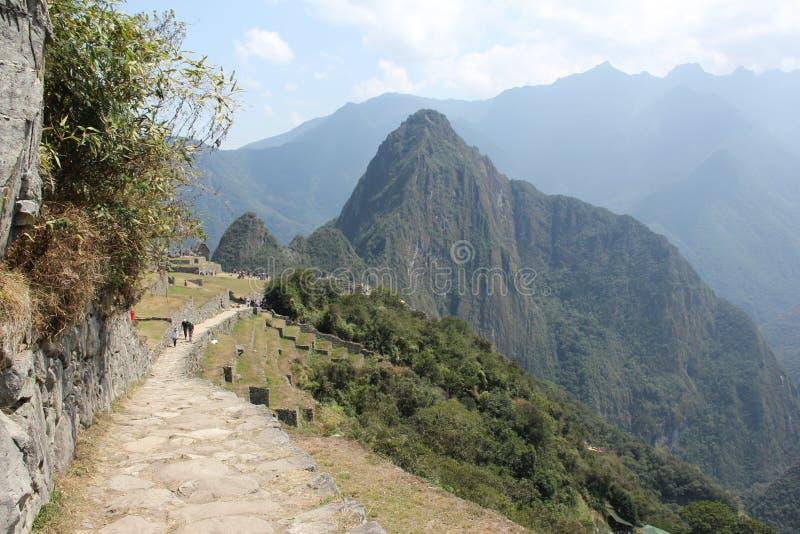 La dernière partie d'Inca Trail photographie stock libre de droits