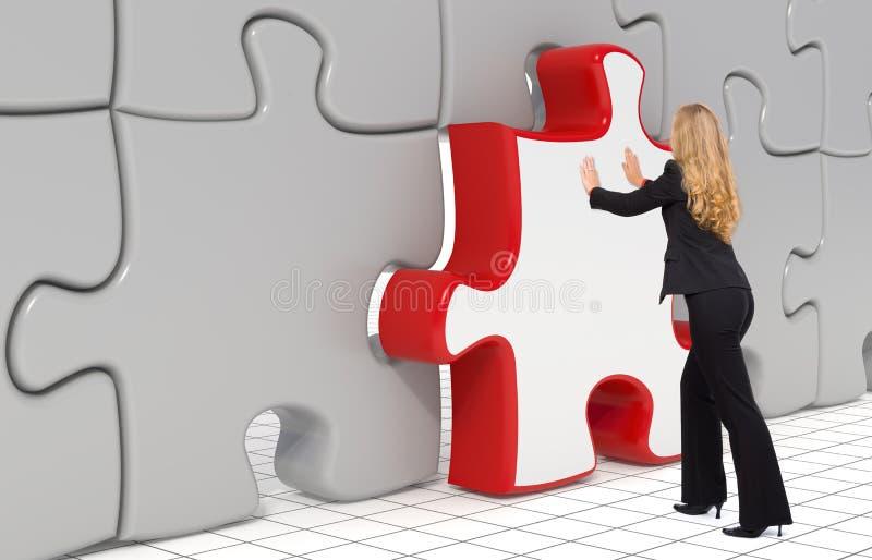 La dernière partie de puzzle - concept d'affaires illustration stock