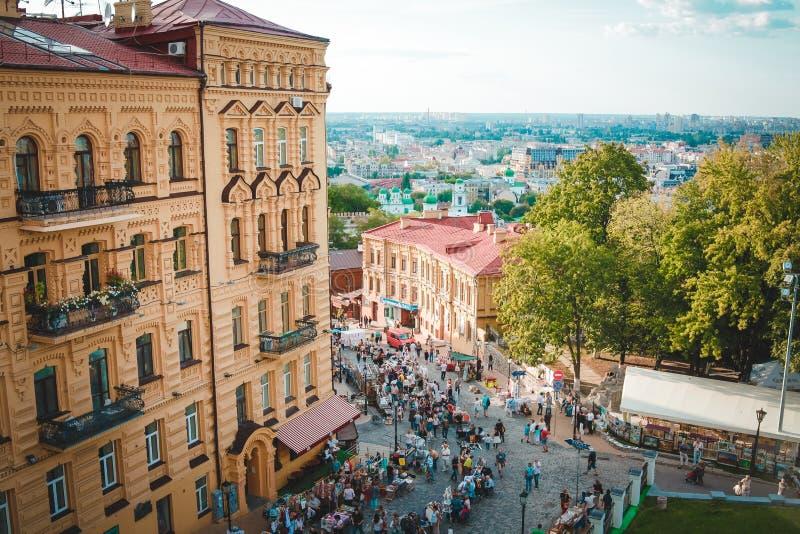 La descente d'Andrew, Kiev images libres de droits