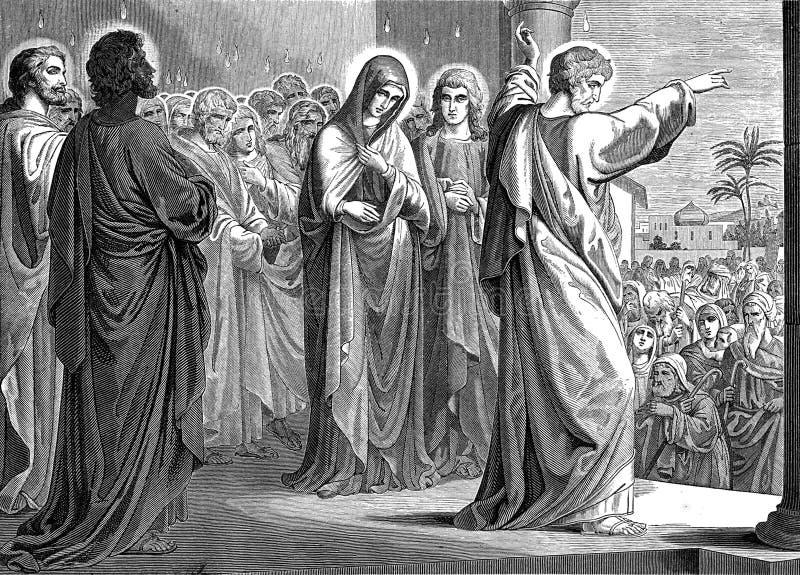 La descente du Saint-Esprit illustration stock