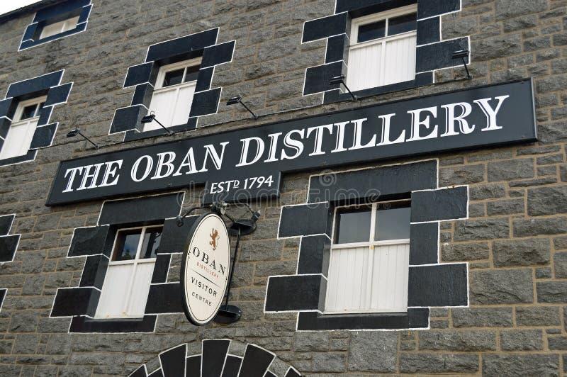 La destilería Escocia de Oban foto de archivo libre de regalías