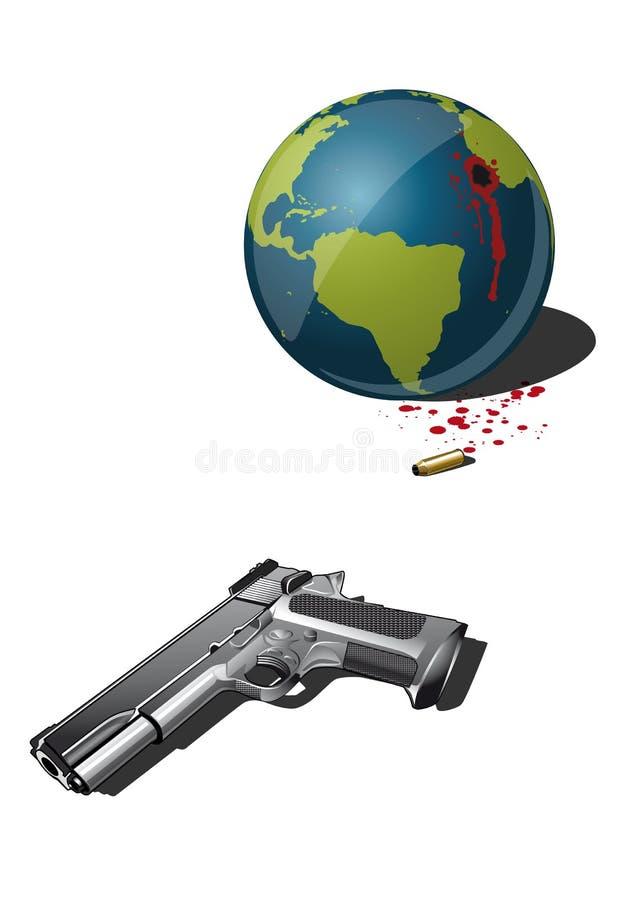La destrucción de la tierra ilustración del vector