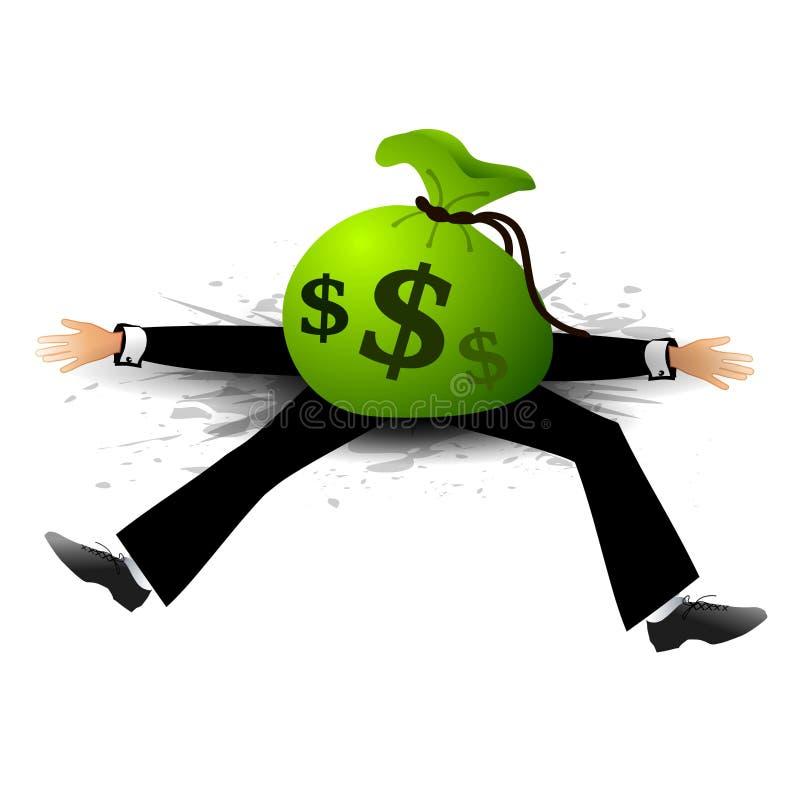 La dette financière de jour a tué Paul illustration de vecteur