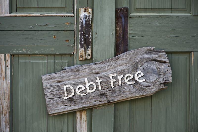 La dette libèrent photographie stock libre de droits