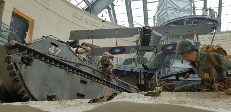 La deuxième guerre mondiale Marine Corps Beach Landing image libre de droits