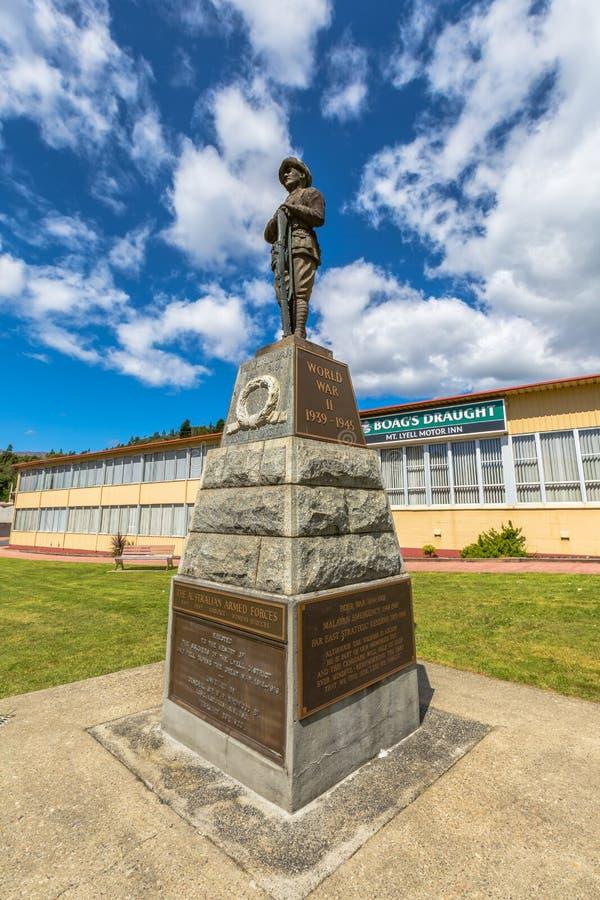 La deuxième guerre mondiale Queenstown commémoratif Tasmanie photographie stock