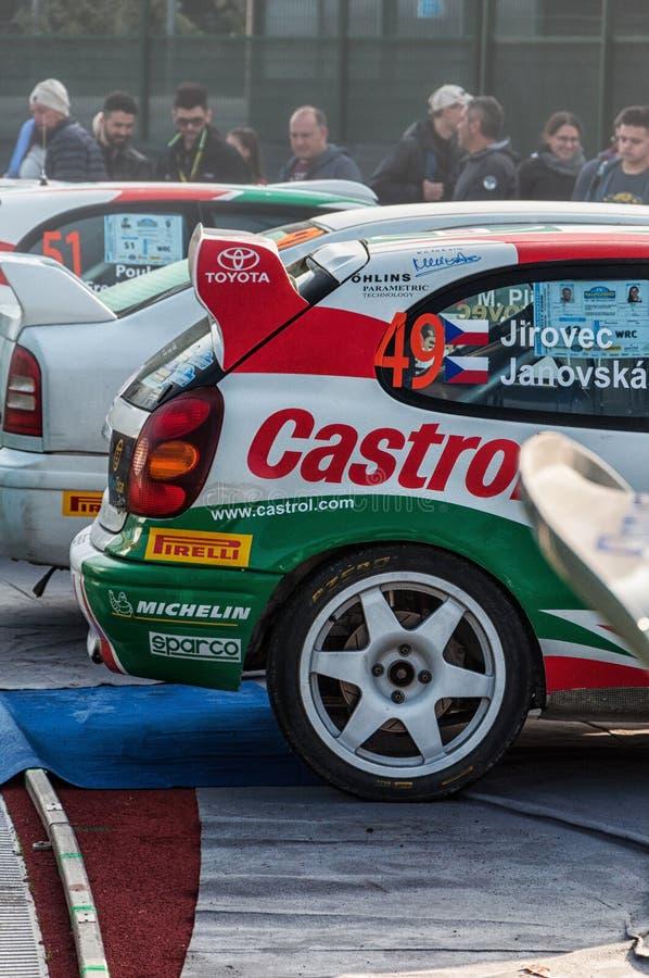 LA 1998 di corsa del da di vettura di della di raduno di vecchio del nel di TOYOTA COROLLA WRC LEGGENDA 2017 immagini stock libere da diritti