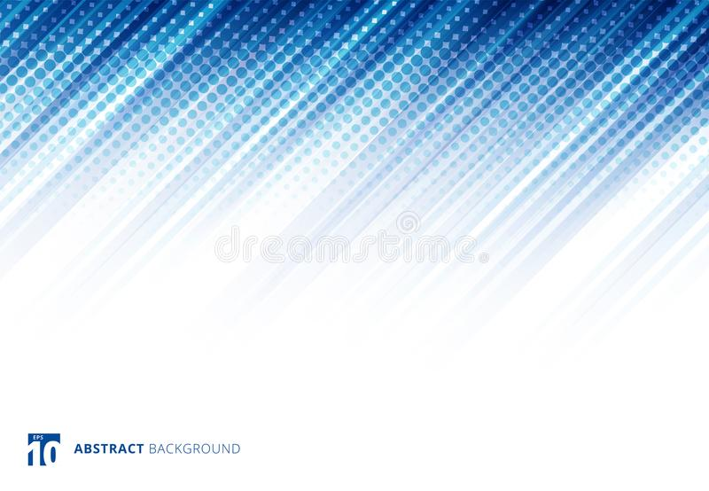 La diagonal abstracta azul alinea tecnología del fondo con el tono medio libre illustration