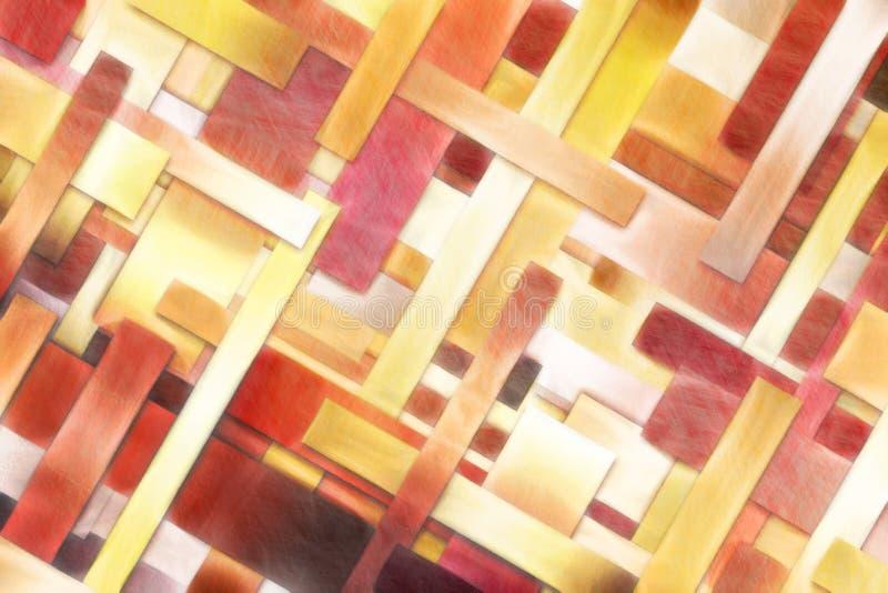 La diagonal geométrica barra el fondo abstracto - estilo del bosquejo fotos de archivo