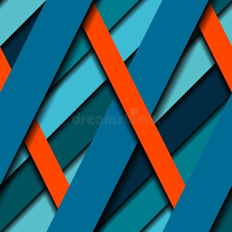 La diagonal pela el modelo ilustración del vector